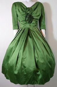 50s vintage GIGI young satin hostess dress